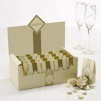 Chic Boutique Tissue Throwing Confetti - Ivory & Gold